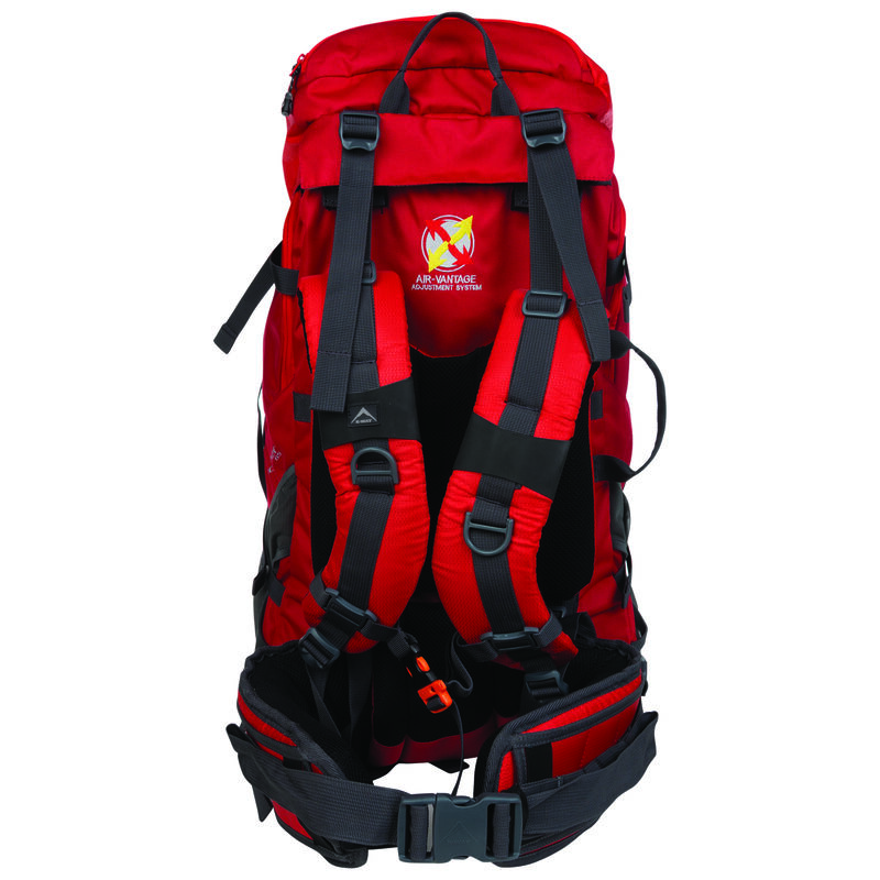 K-Way Expedition Series Pioneer 65 Hiking Pack -  red-red