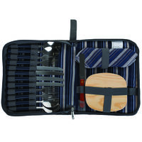 Cape Union 4 person Picnic Utensil Set -  navy-grey