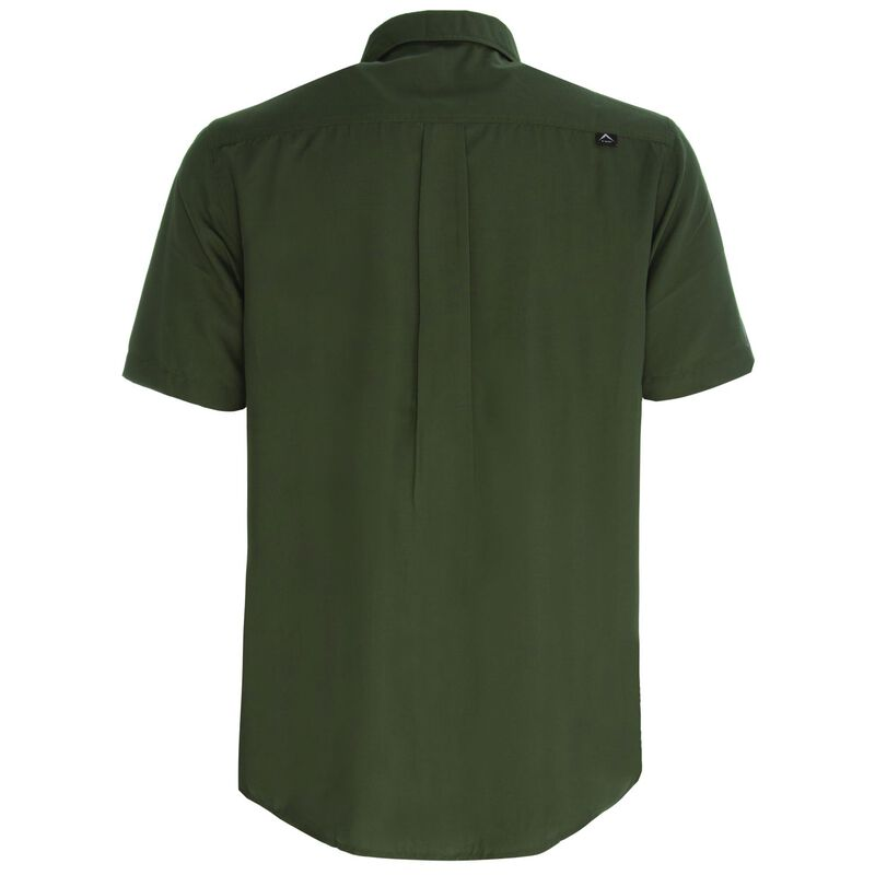 K-Way Men's Explorer Geoff Short Sleeve Shirt  -  olive