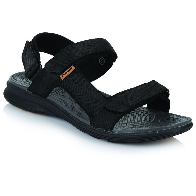 K-Way Men's Re-Fresh Sandal -  black-black
