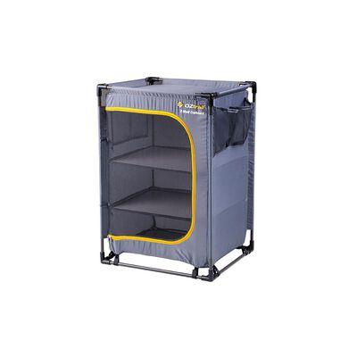 OZtrail 3-Shelf Camp Cupboard with Steel Frame