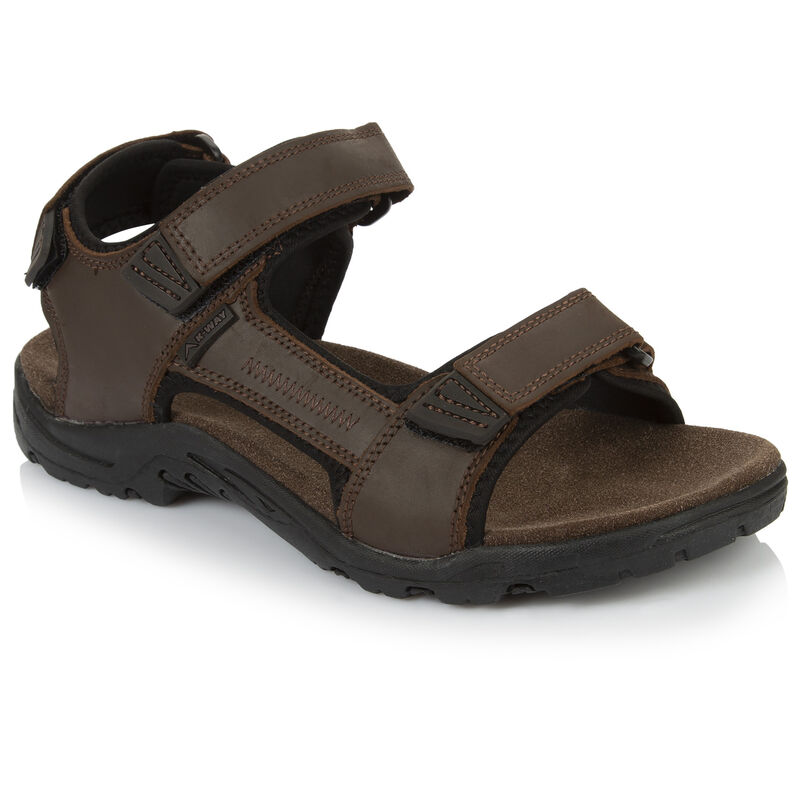 K-Way Men's Harvey Sandal -  chocolate-black