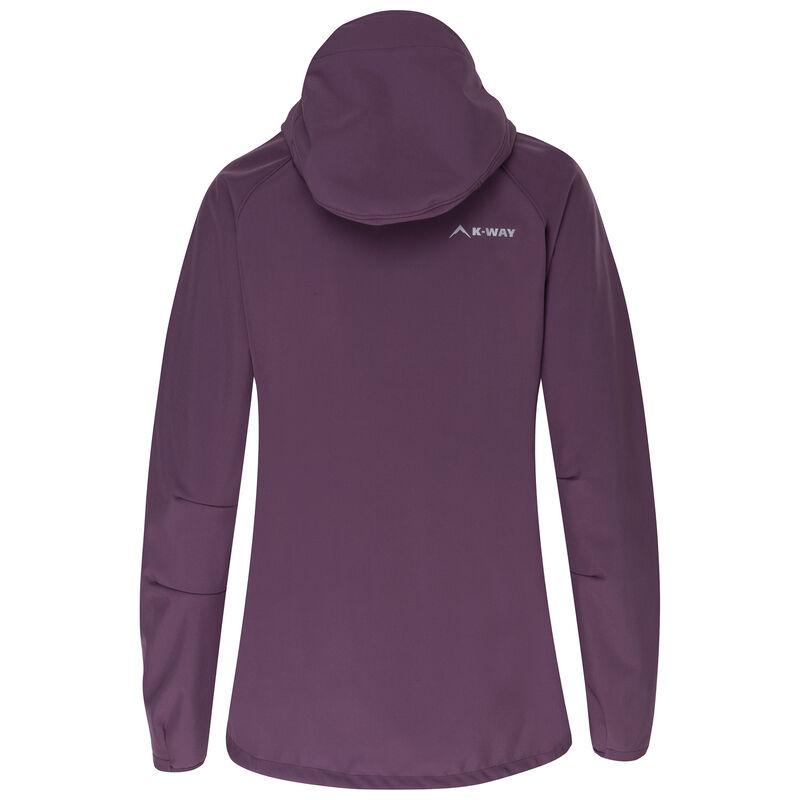 K-Way Women's Eliana Softshell Jacket -  plum-dustypink