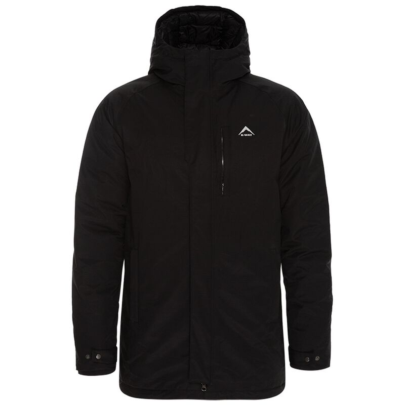 K-Way Men's Dew Down Coat -  black