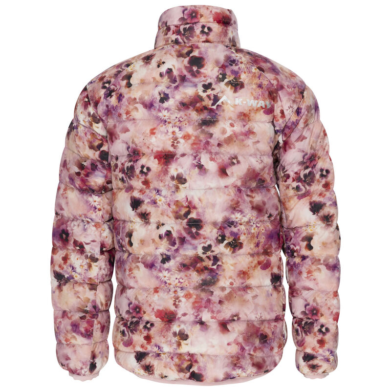 K-Way Kids Printed Cygnet Down Jacket -  lightpink-lilac