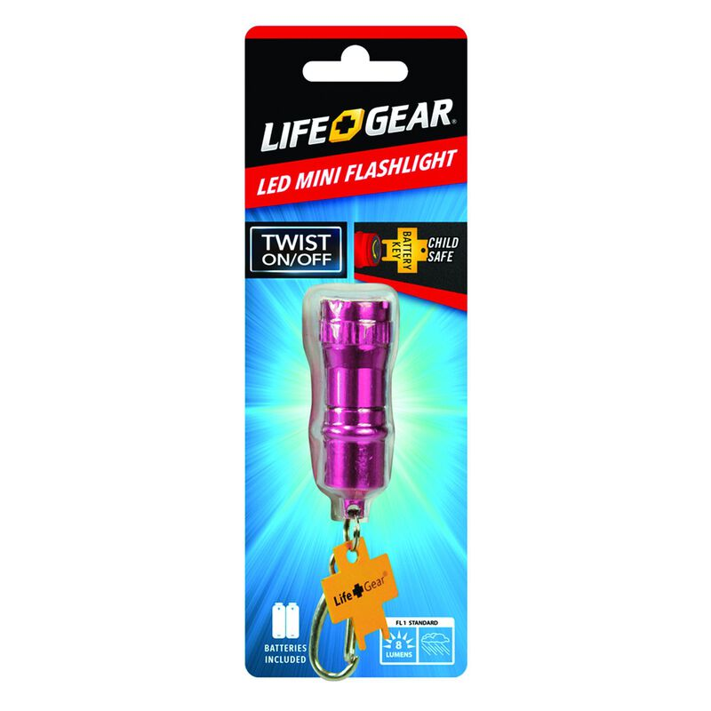 Life+Gear Mini Flashlight -  pink