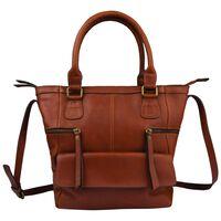 Old Khaki Amayah Leather Shopper -  tan