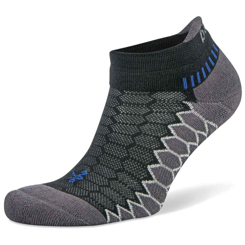 Balega Silver No Show Sock -  black-black