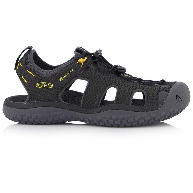 Keen Men's SOLR Sandal -  black-gold