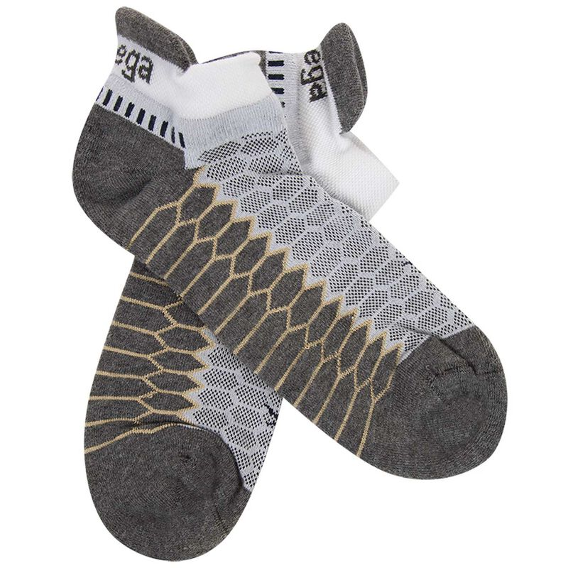 Balega Silver No Show Sock -  white-grey