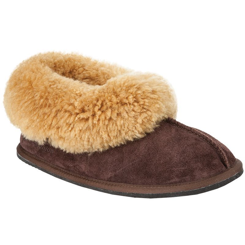 Cape Union Men's Sheep Wool Classic Slippers  -  chocolate