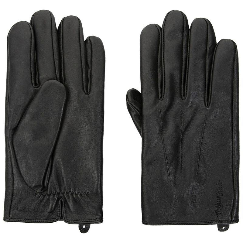 Arthur Jack Men's Richard Leather Glove -  black