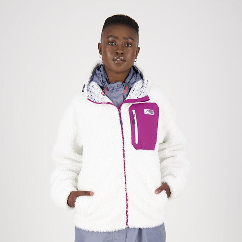 K-Way MMXXI Women's Shaggy Zip-Thru Fleece Hoody -  dc3309