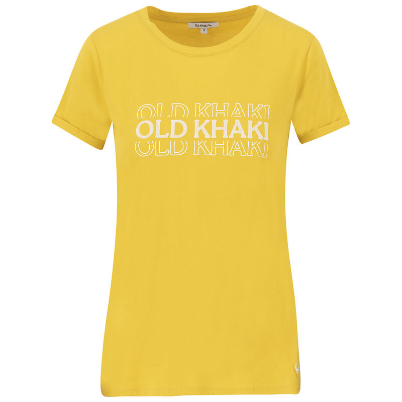 Old Khaki Women's Montana Call-Out T-Shirt -  yellow