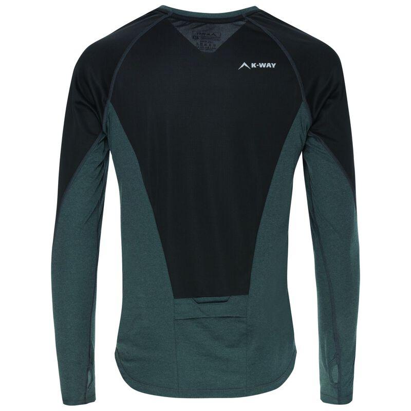K-Way Men's Excelsior Long Sleeve T-Shirt -  teal-seablue