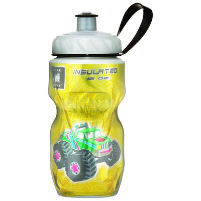 Polar Monster Truck 12 oz Kids Insulated Water Bottle