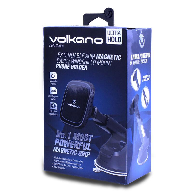 Volkano Hold Series Extendable Dash & Windscreen Magnetic Phone Holder -  black