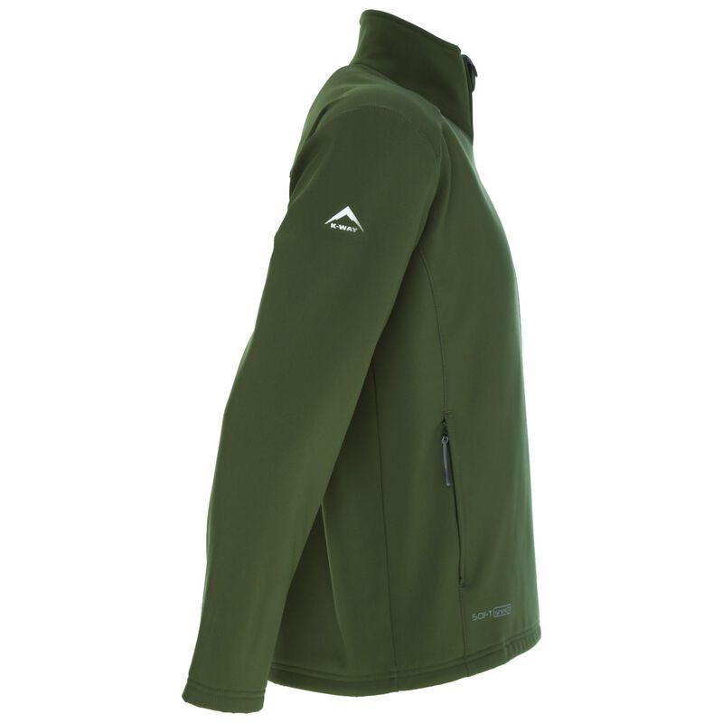 K-Way Men's Felixx Softshell Jacket -  darkolive