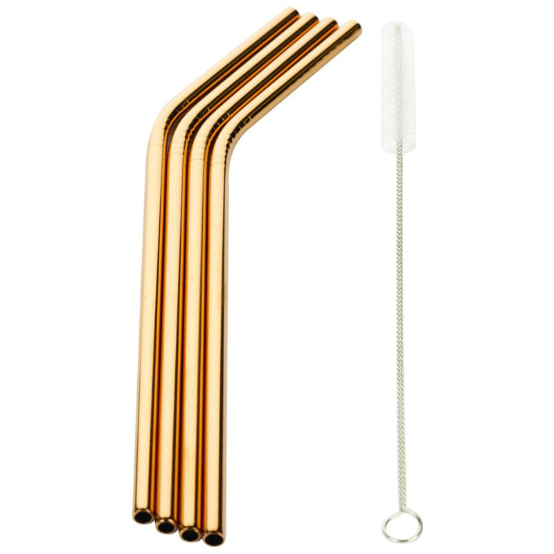 Cape Union Stainless Steel Straws -  copper