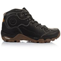 Hi-Tec Men's Ox Discovery Mid WP Boot -  black-brown