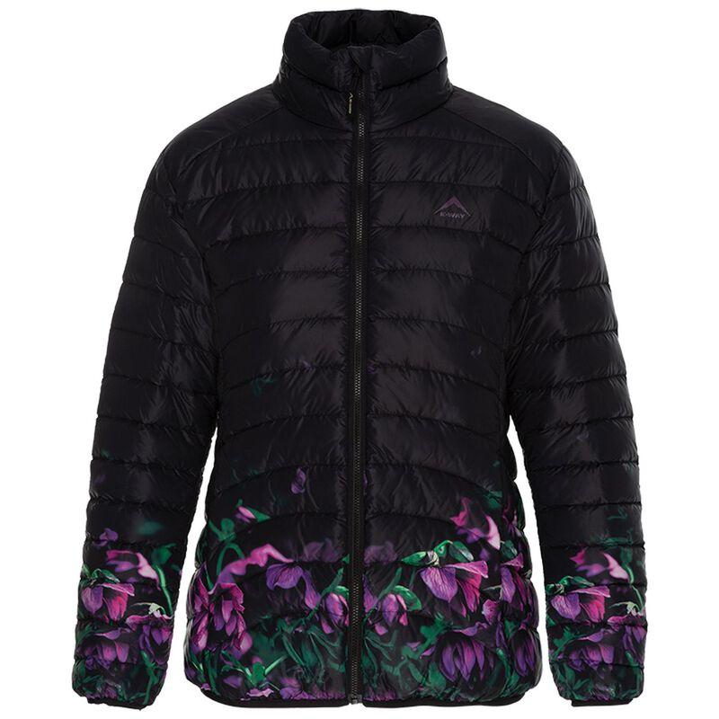 K-Way Women's Fern Printed Ombre Down Jacket -  black-plum
