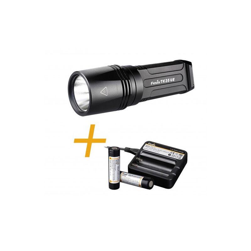 Fenix TK35 UE - LED Flashlight + Battery Kit -  black-black