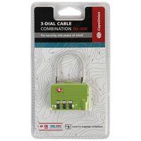 Cape Union Cable Lock TSA Lock 3-Dial Combination -  lime
