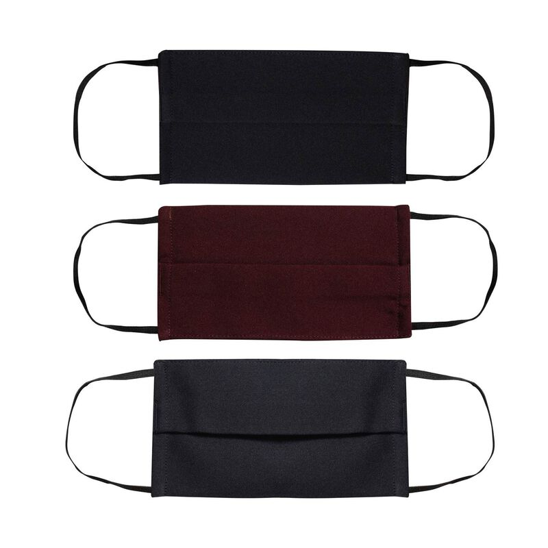 Fabric 2-Layer Face Mask 3-Pack with Filter -  navy-burgundy