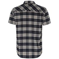 K-Way Men's Explorer Vaillant Short Sleeve Check Shirt  -  white-blue