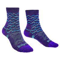 Bridgedale Women's Hiking Lightweight Endurance Sock -  purple-aqua