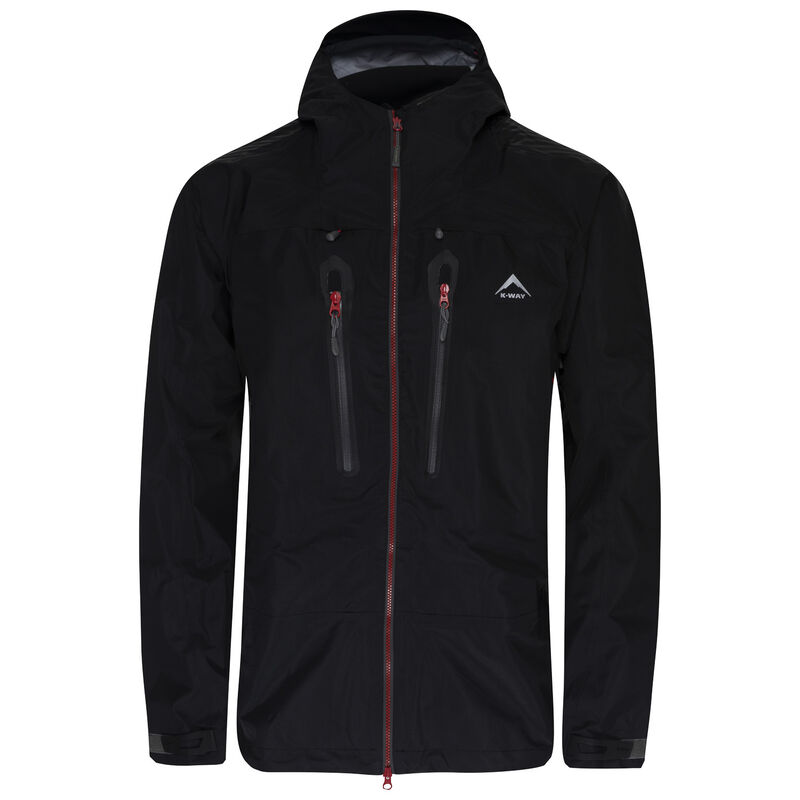 K-Way Expedition Series Men's Merak'16 Tri-lam Shell Jacket -  black-red