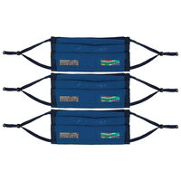 K-Way MB2 Fabric Face Mask 3-Pack -  navy-airforce