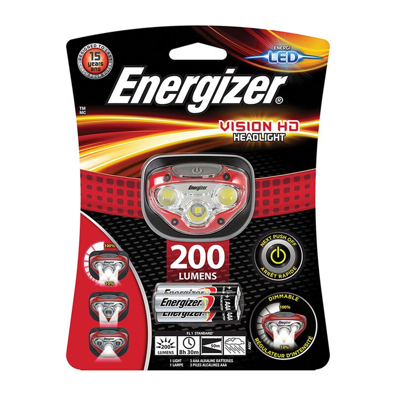 Energizer Vision HD Headlamp 200 + 3AAA -  red