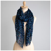 Rare Earth Delta Dotted Scarf -  navy-assorted