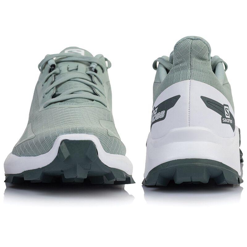 Salomon Women's Alphacross Blast Shoe  -  palegreen-white