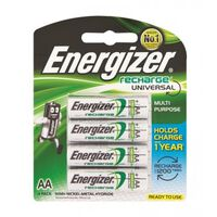 Energizer AA-4 Rechargeable Batteries -  nocolour