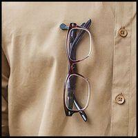 Readerest Swarovski Crystal Eyeglass Holder  -  silver