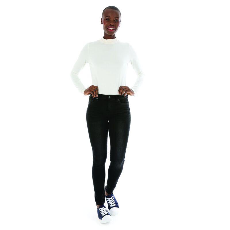 Poppi Women's Skinny Denim  -  black
