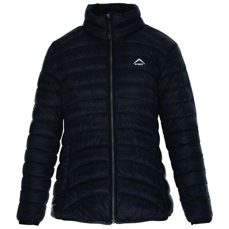 K-Way Women's Swan '18 Down Jacket  -  black-darkcharcoal