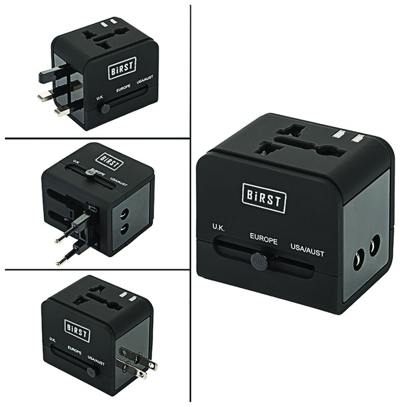 Birst Compact Travel Adaptor -  black