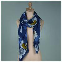 Rare Earth Geena Floral Stripe Scarf -  blue-yellow