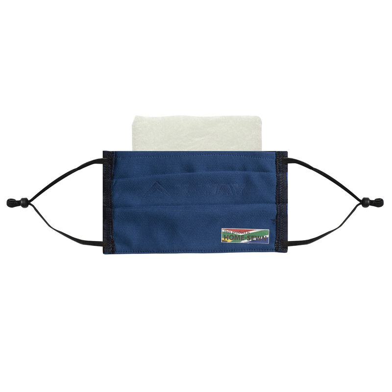 K-Way MB1 Fabric Face Mask 3-Pack with Filter -  black-navy