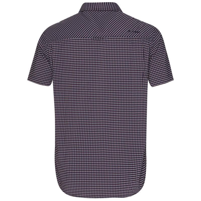 K-Way Men's Explorer Vaillant Short Sleeve Check Shirt  -  oxblood-navy