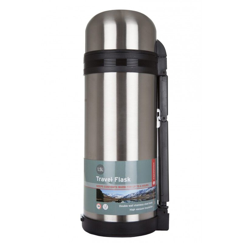 Cape Union 1.5L Stainless Steel Travel Flask -  lightgrey