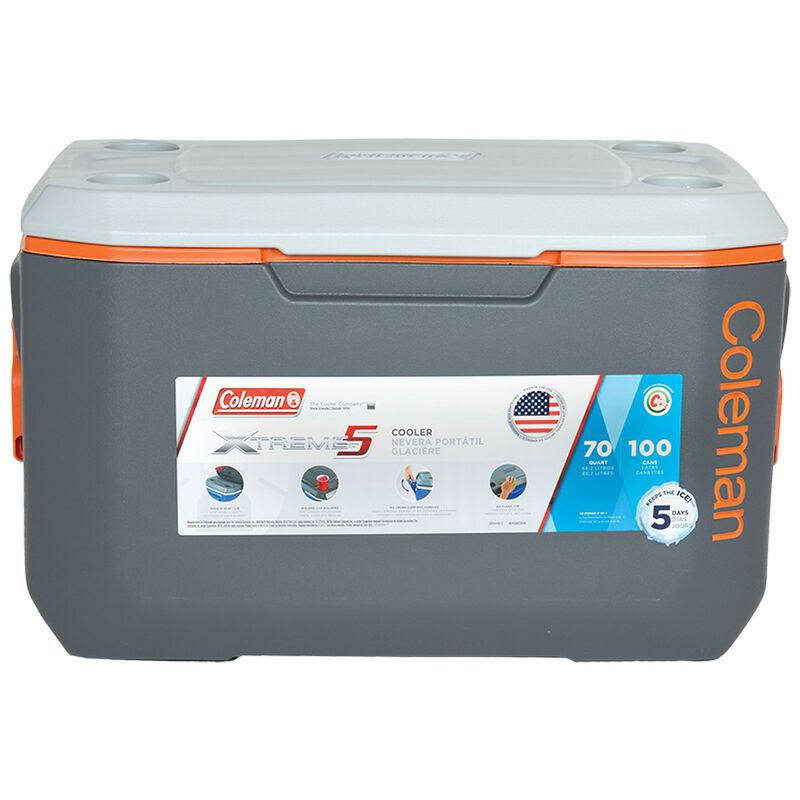 Coleman 66L Extreme Cooler -  grey-orange