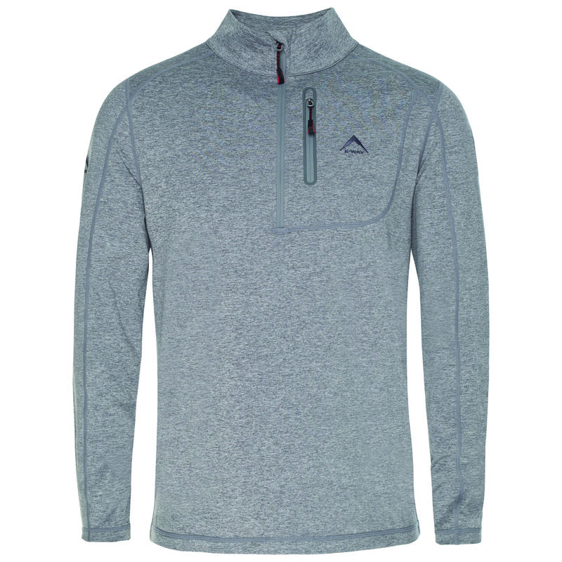 K-Way Men's Clash '19 1/4 Zip Fleece -  lightgrey