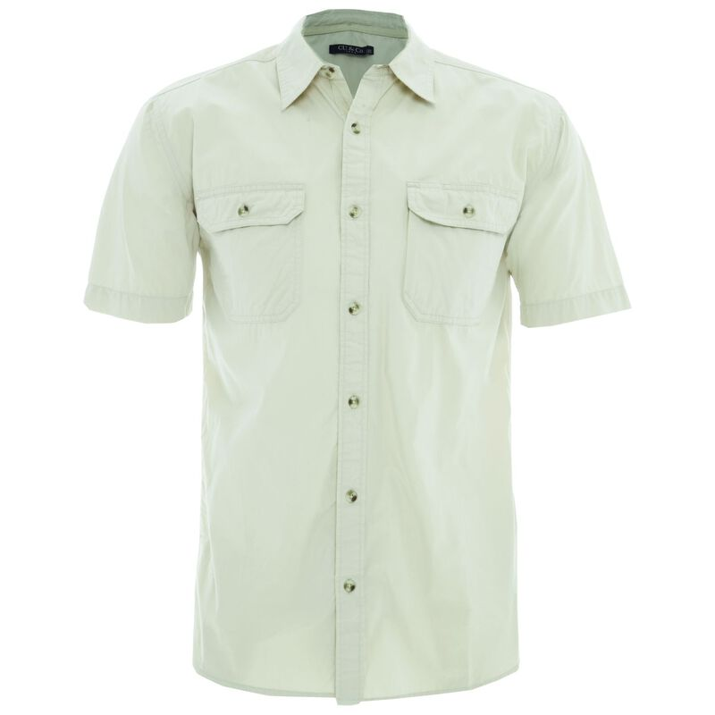 CU & Co Men's Pete Shirt -  stone