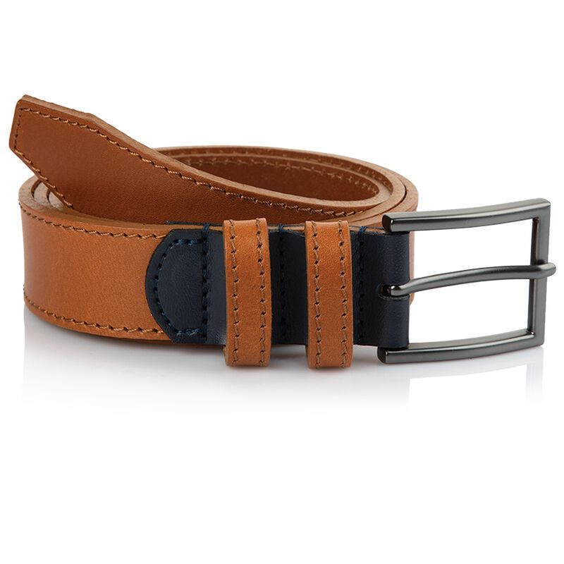 Arthur Jack Hewitt Belt -  tan-navy