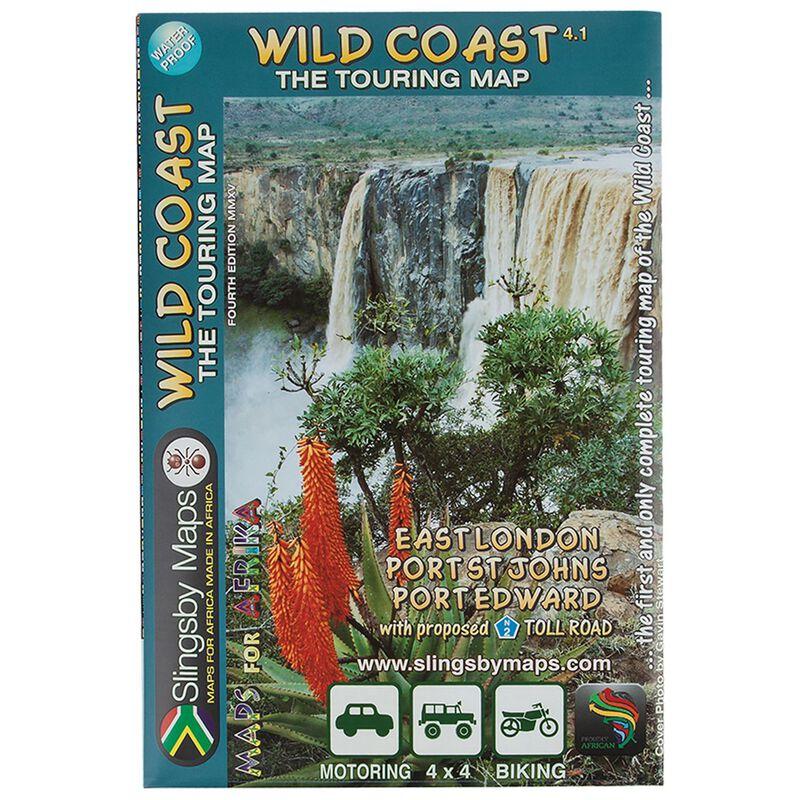 Slingsby Maps Wild Coast Waterproof Map -  nocolour