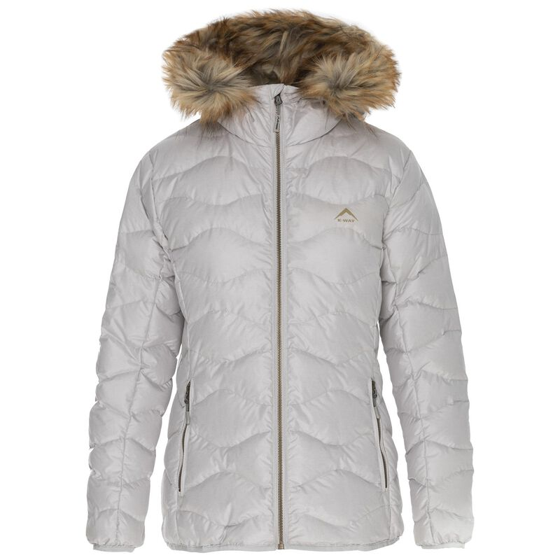 K-Way Women's Alexa Down Jacket  -  bone-camel
